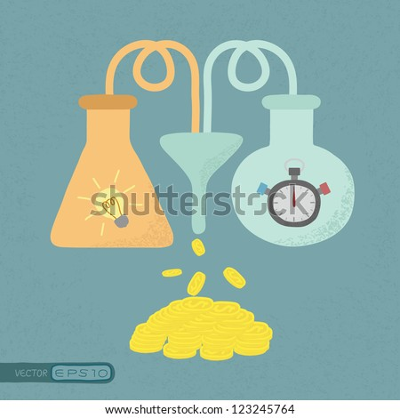 Time + Idea = Money , eps10 vector format - stock vector