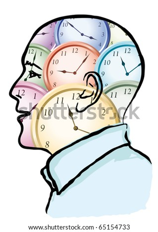 time in the head - stock vector