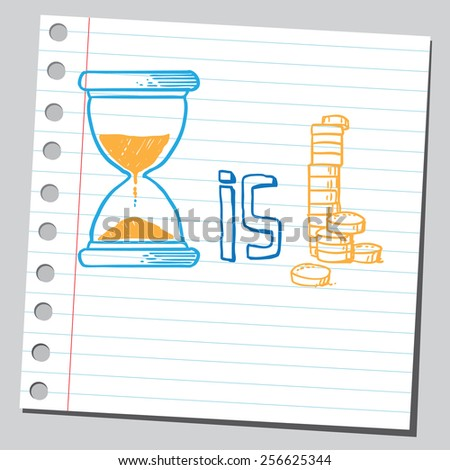 Time is money concept - stock vector