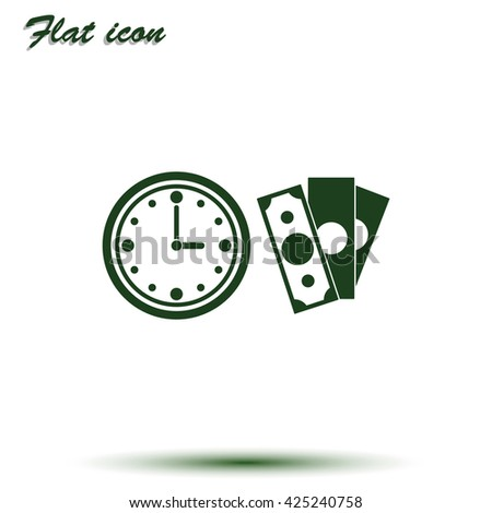 Time is money icon.