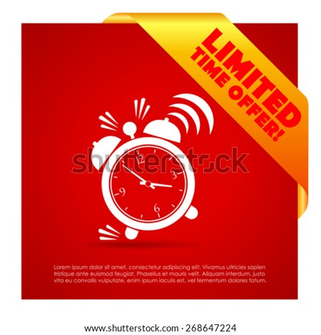 Time limited offer poster - stock vector