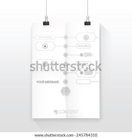Time line blue print style vector graph stock vector 245784310 time line blueprint style vector graph black and white composition a4 sheet mock up in malvernweather Images