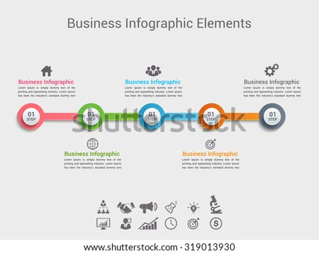 Time line infographic. Vector illustration - stock vector