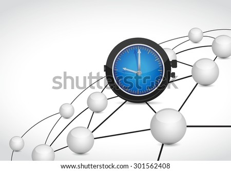 time link sphere network connection concept illustration design graphic background - stock vector