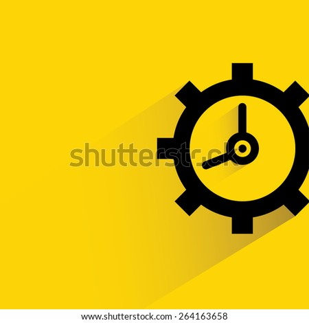 time management concept, clock  - stock vector