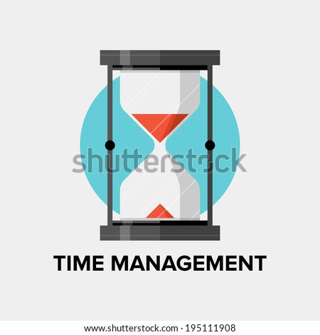 Time management for business and personal development concept, efficiency planning and success productivity organization for progress improvement. Flat design style modern vector illustration - stock vector
