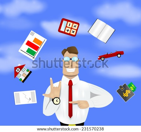 Time management image. Vector eps 10  - stock vector