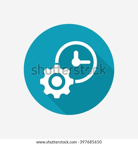 Time management vector icon - stock vector