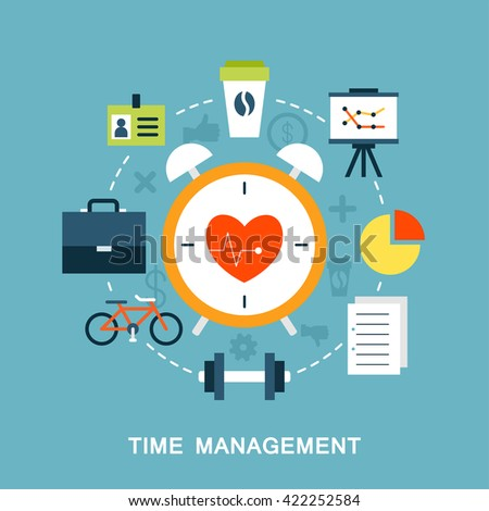 Time management vector image - stock vector