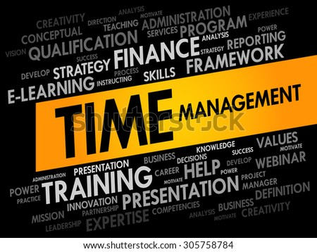 Time Management word cloud, business concept - stock vector