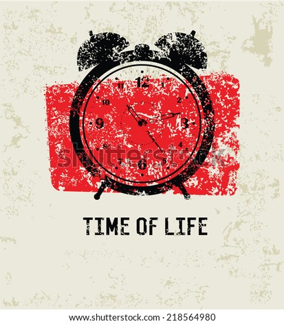 Time of life grunge symbol,clean vector - stock vector