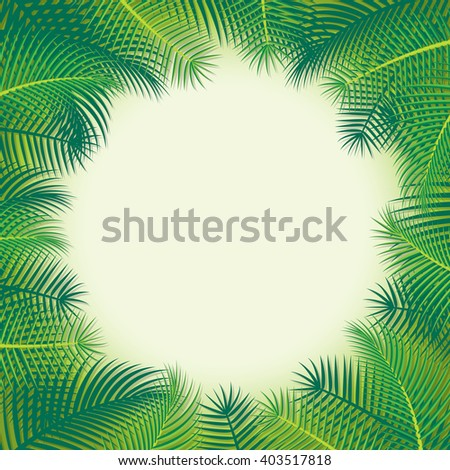 Time of summer vacation. Vector illustration of summer vacation background with palm trees.
