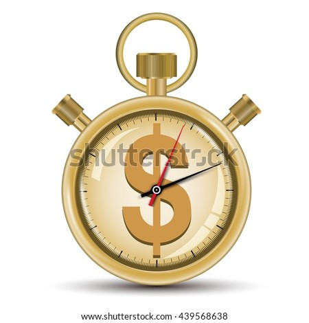 Time sale concept golden stopwatch