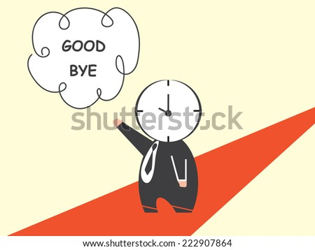 Time say goodbye - stock vector