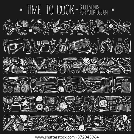 Kitchen Tools Drawings kitchen tools stock images, royalty-free images & vectors