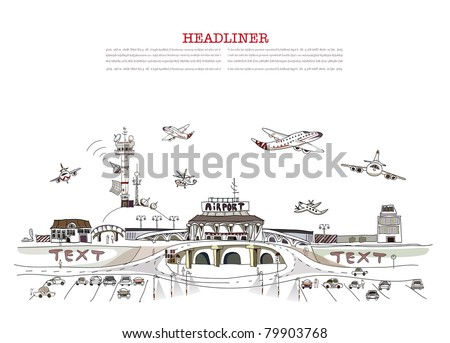 time to go on plane illustration - stock vector