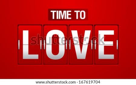 Time to love analog flip clock. - stock vector