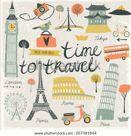 Time to Travel - stock vector