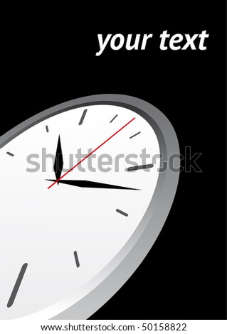 time vector background - stock vector