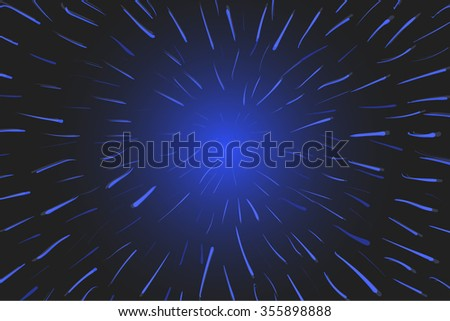 Time warp. Traveling in space. Abstract Vector  Background