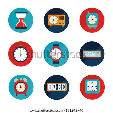 time watch over white background vector illustration - stock vector