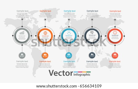 Timeline Chart Infographic Template  Options Stock Vector