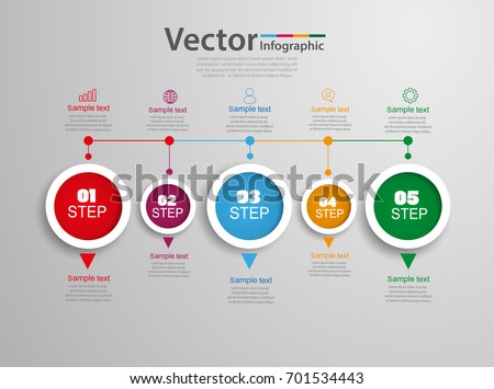 Timeline Chart Infographic Template  Options Stock Vector Hd