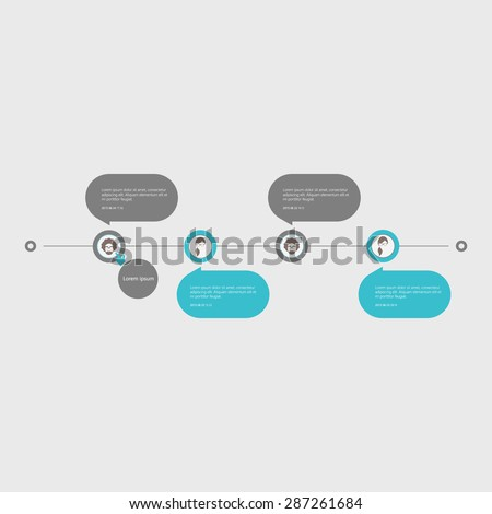 Timeline, chat interface. Trendy modern design template. Vector  - stock vector