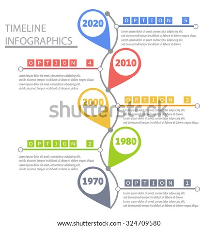 Timeline Infographic And Diagrams - stock vector