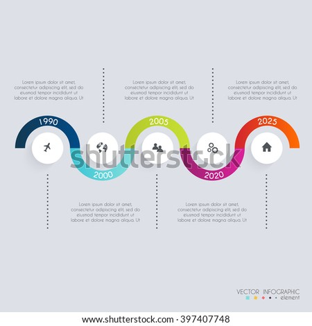 Timeline Infographic Design Templates. Diagrams and Statistics for your business presentations.  - stock vector