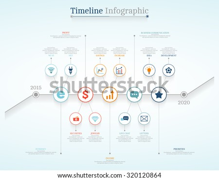 Timeline Infographic design templates # 3. With paper tags. Idea to display information, ranking and statistics with orginal and modern style. - stock vector