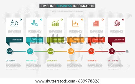 Timeline Infographic Design Vector Marketing Icons Stock Vector