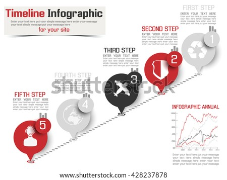 TIMELINE INFOGRAPHIC NEW STYLE  2 RED