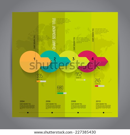Timeline infographic, vector  - stock vector