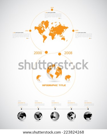 Timeline Infographic. Vector design template  - stock vector