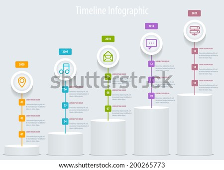 Timeline Infographic. Vector design template eps 10.
