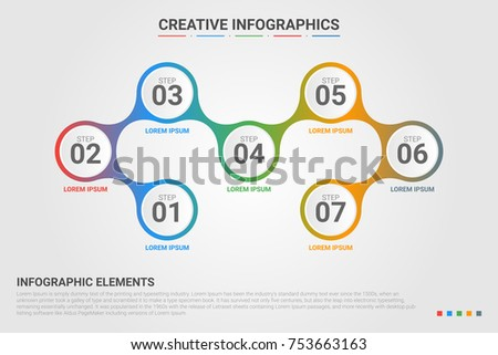 Timeline infographics design number options template stock vector timeline infographics design number options template vector circles business data visualization process ccuart Images