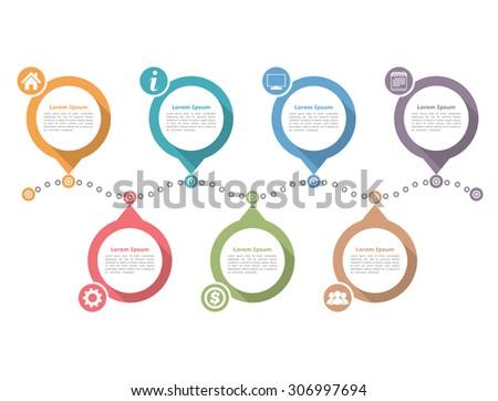 Timeline infographics design template, workflow layout, diagram, vector eps10 illustration - stock vector