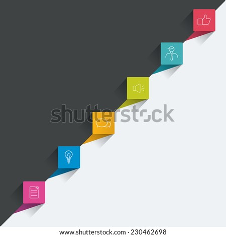 Timeline. Step by step template. Infographic. - stock vector