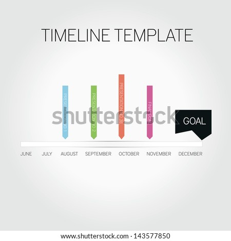Timeline template - stock vector