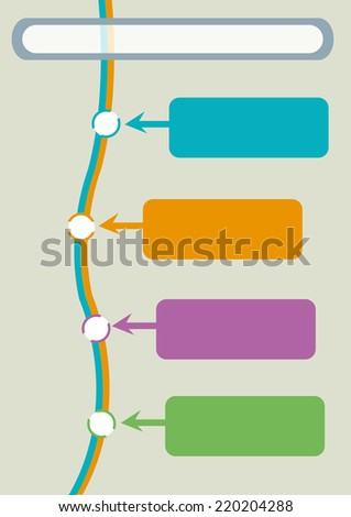 Timeline template presentation or infographic - stock vector