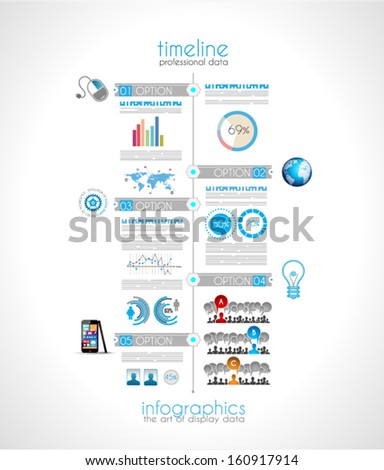 Creative timeline graph