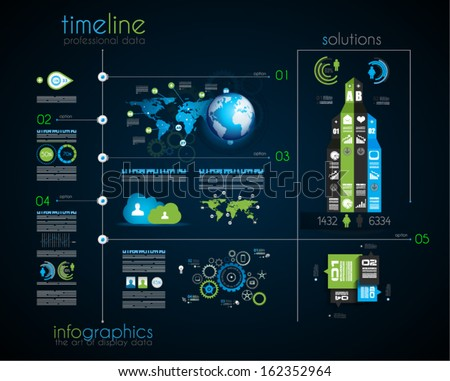 Timeline Display Your Data Order Infographic Stock Vector ...