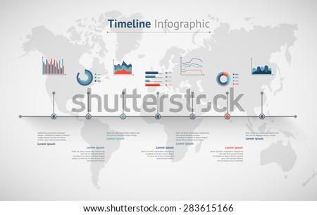 Timeline vector infographic world map vectores en stock 283615166 timeline vector infographic world map gumiabroncs Image collections