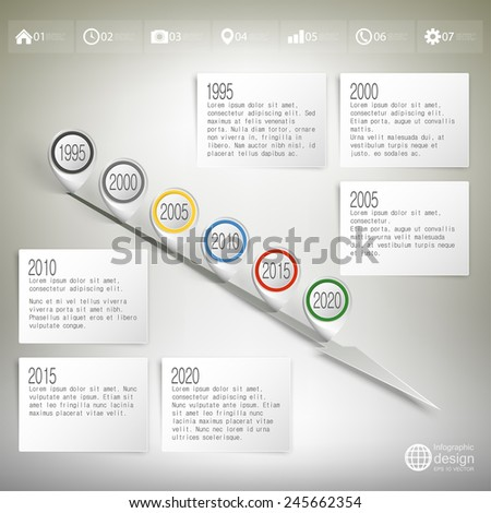 Infographic Timeline Design Concept Template Points Vector – Timeline Website Template