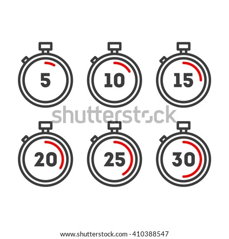 timer line icons timer icons set vector timer icons stock vector