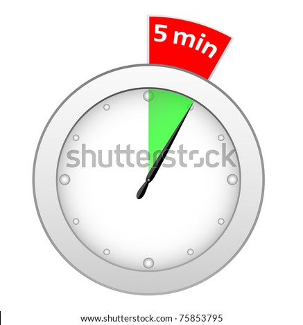 Timer 5 minutes - stock vector