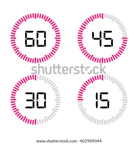 timer set - stock vector