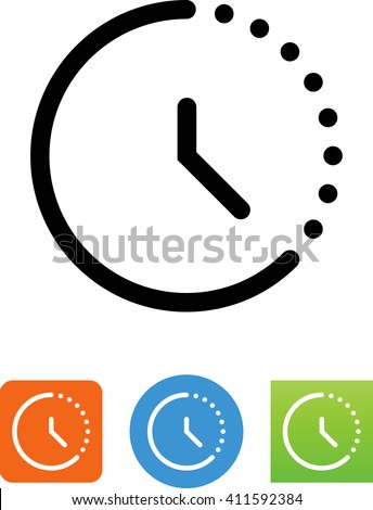 Timer showing seconds counting down. - stock vector