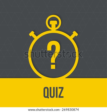 Timer with a question. Quiz. The concept is the question with the answer. Icon with  ribbon for mobile applications - stock vector